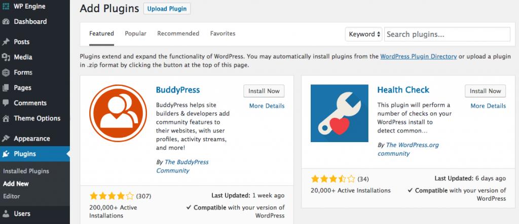 Add Plugins - WordPress