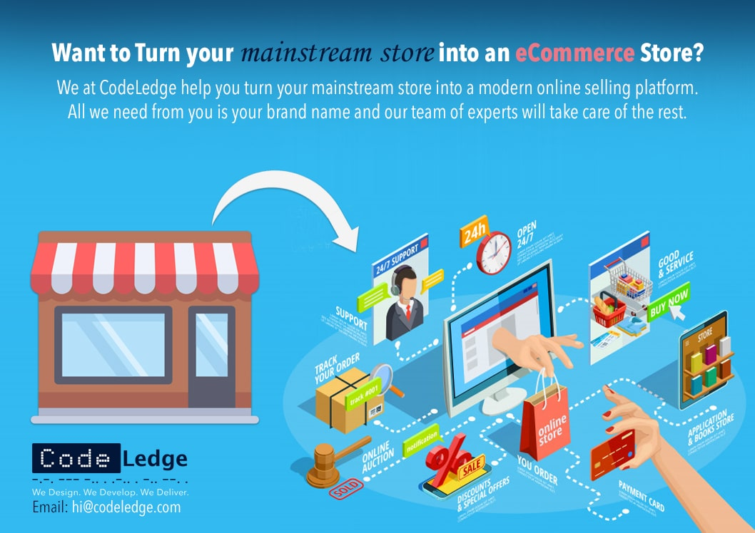Turn your Mainstream store to an eCommerce Store
