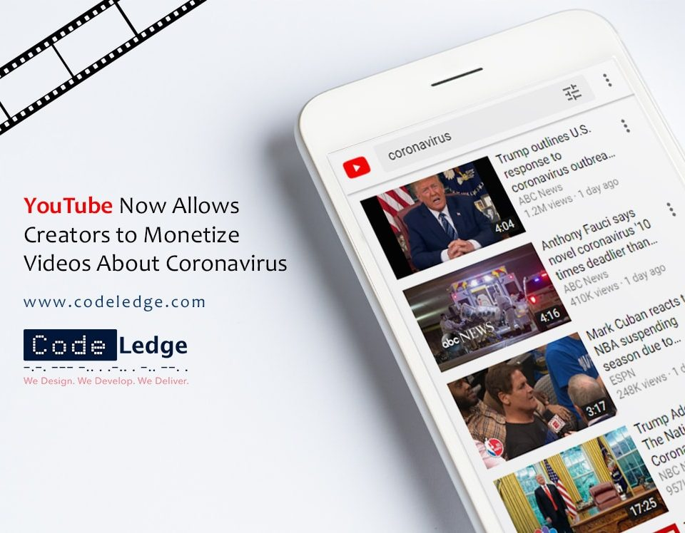 Youtube Now Allows Creators to monetize videos About Coronavirus
