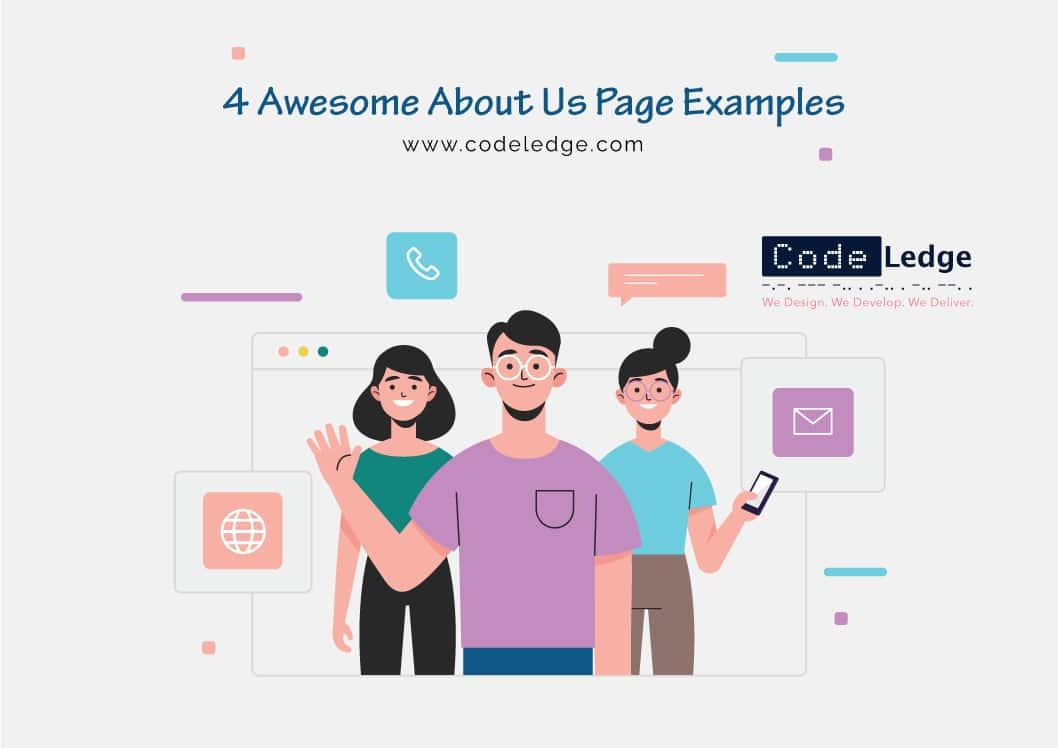 4 Creative Om oss sidan exempel som gör ett stort intryck på besökare
