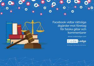 Facebook vidtar rättsliga åtgärder mot företag för falska gillar och kommentarer