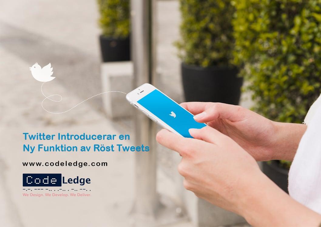Twitter introducerar en ny funktion av röst tweets