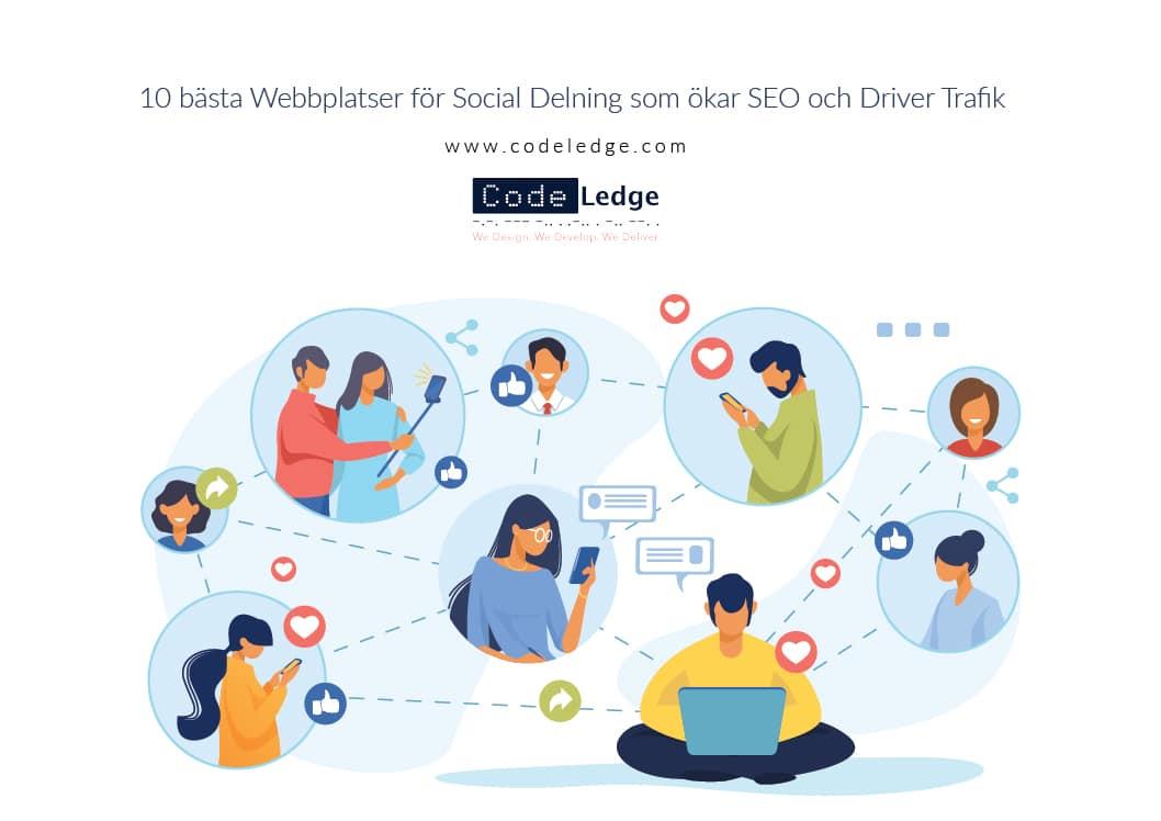 10 bästa webbplatser för Social Delning som ökar SEO och driver trafik