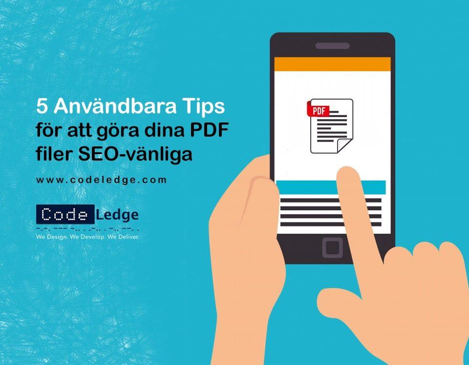 5 användbara tips för att göra dina PDF-filer SEO-vänliga
