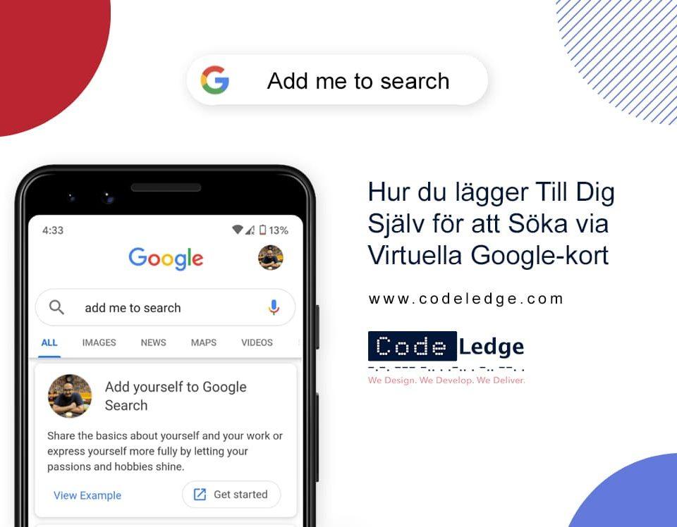 Hur du Lägger till dig Själv för att Söka via Virtuella Google-kort?