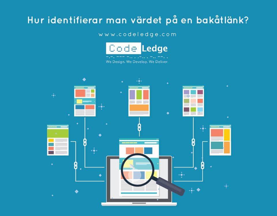 Hur identifierar man värdet av en bakåtlänk till en webbplats i Sverige?