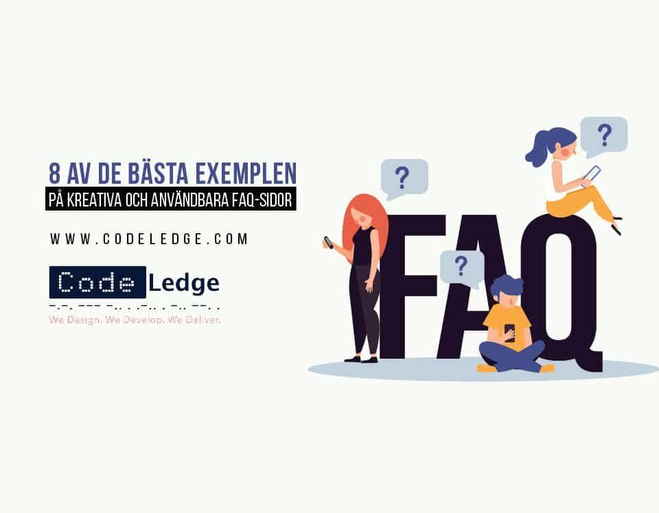 8 av de bästa exemplen på kreativa och användbara FAQ-sidor