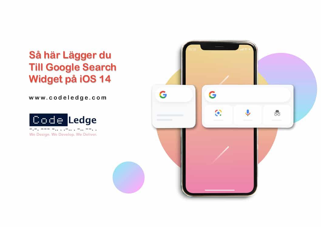 Så här lägger du till Google Search Widget på iOS 14
