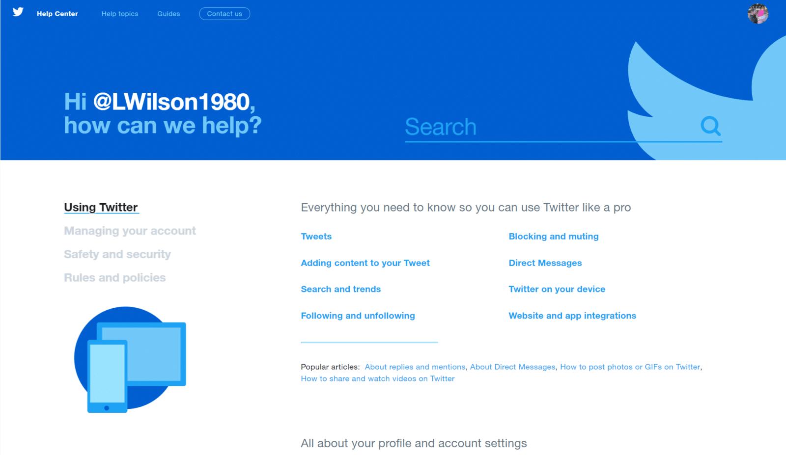 Twitter-FAQ-page