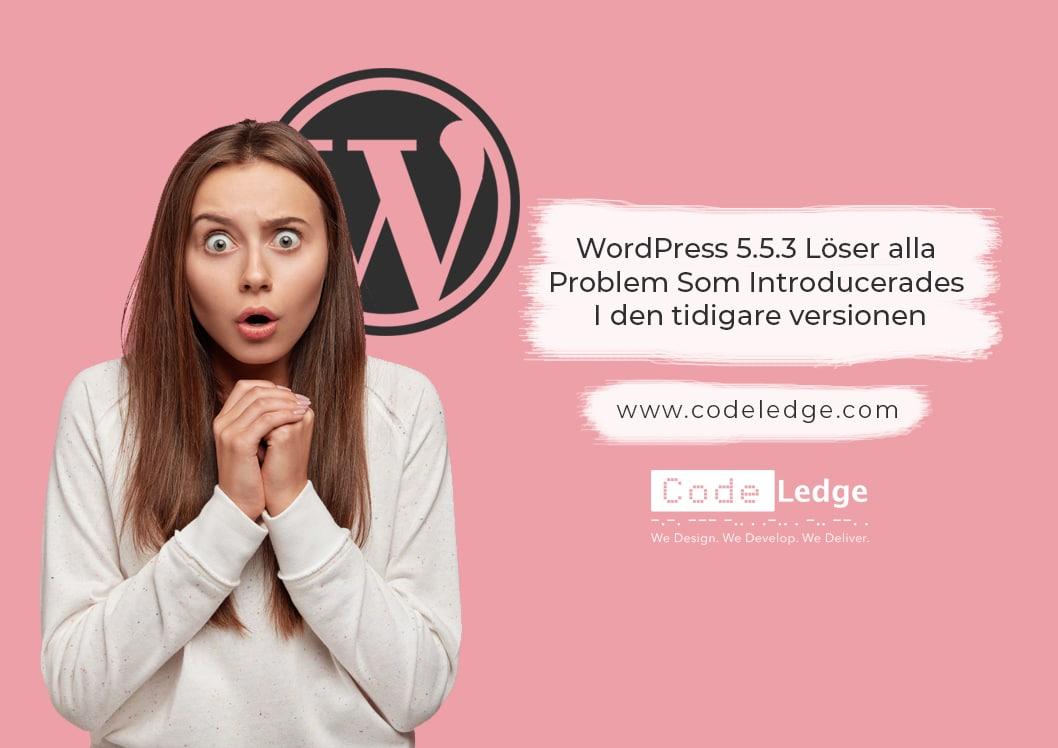 WordPress 5.5.3 löser alla problem som introducerades i den tidigare versionen