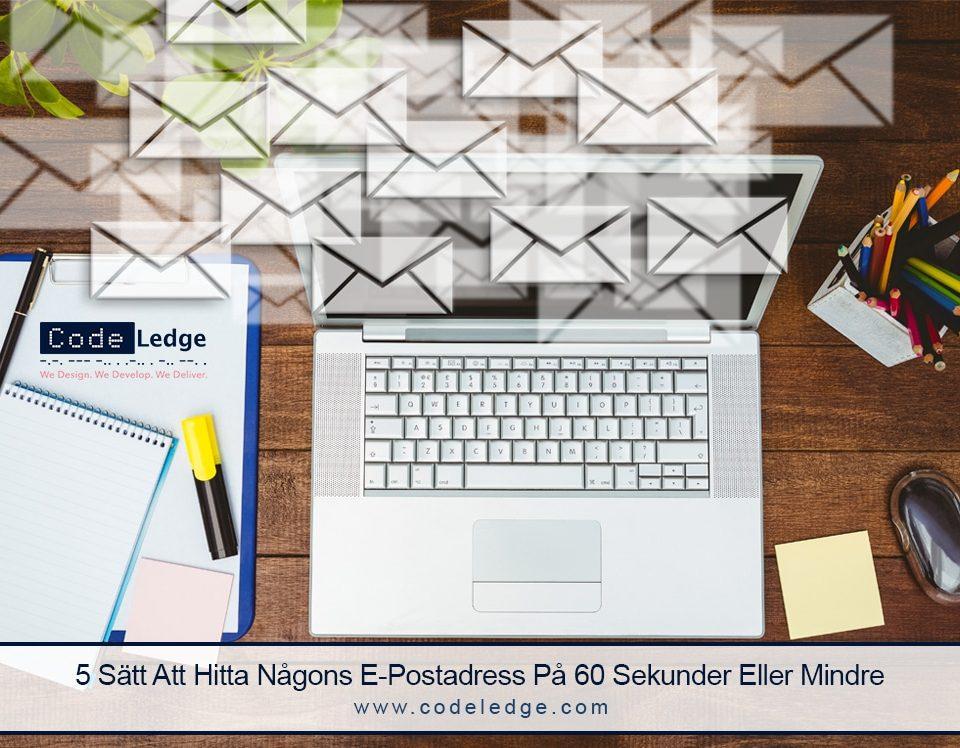 5 Sätt Att Hitta Någons E-Postadress På 60 Sekunder Eller Mindre